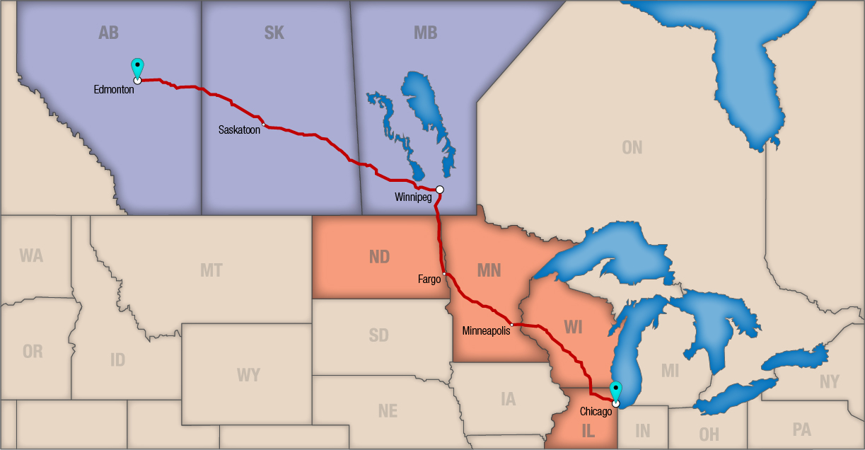 Truck route map