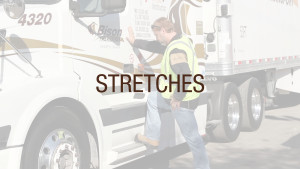 Truck driver stretching
