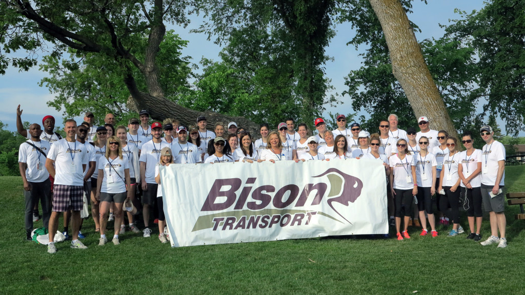 Bison Transport employees at Challenge for Life walk