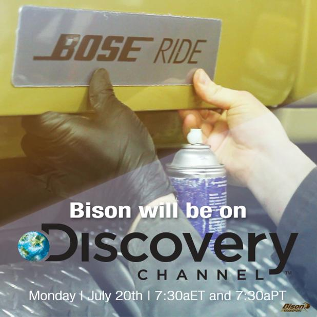 Bison transport on discovery channel