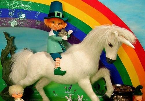 Leprechaun Riding a Unicorn