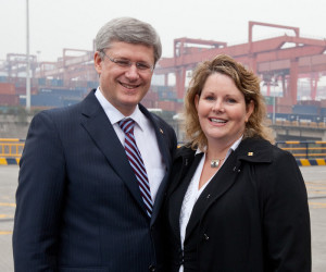 CentrePort CEO and former Prime Minister Stephen Harper in China as first containers are received from CentrePort.