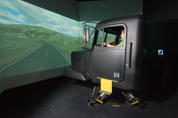 Bison's full-motion simulator was the first of its kind in Canada.