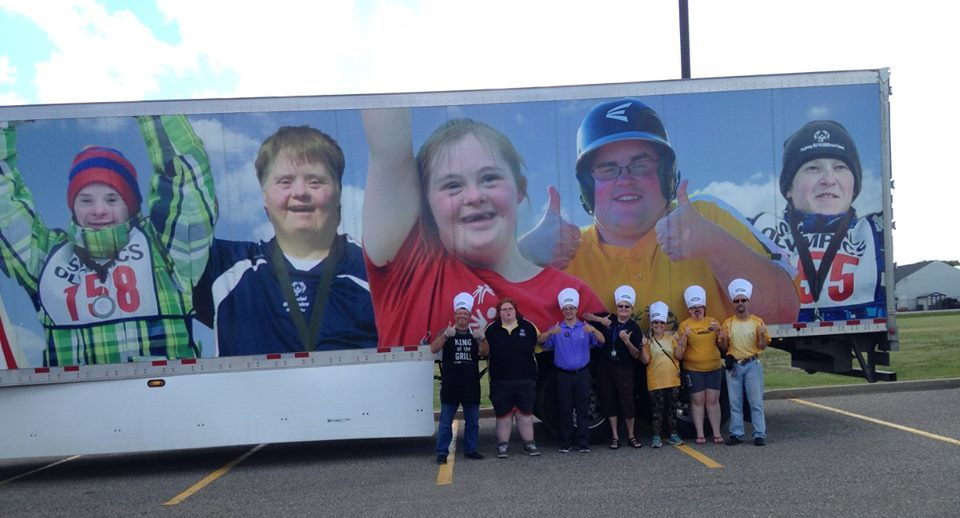 Brandon Convoy Barbecue volunteers and Special Olympics paticipants