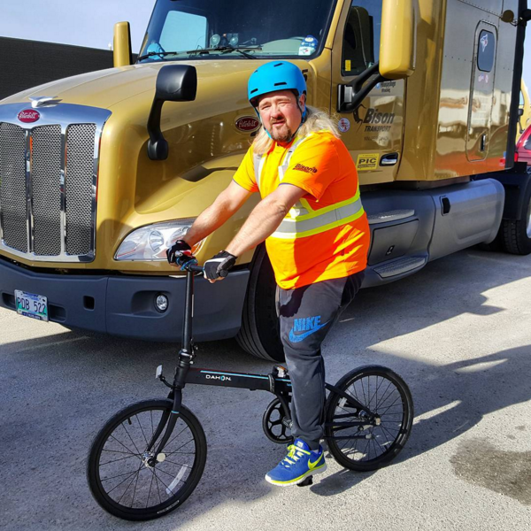 Roger with new Dahon Bike