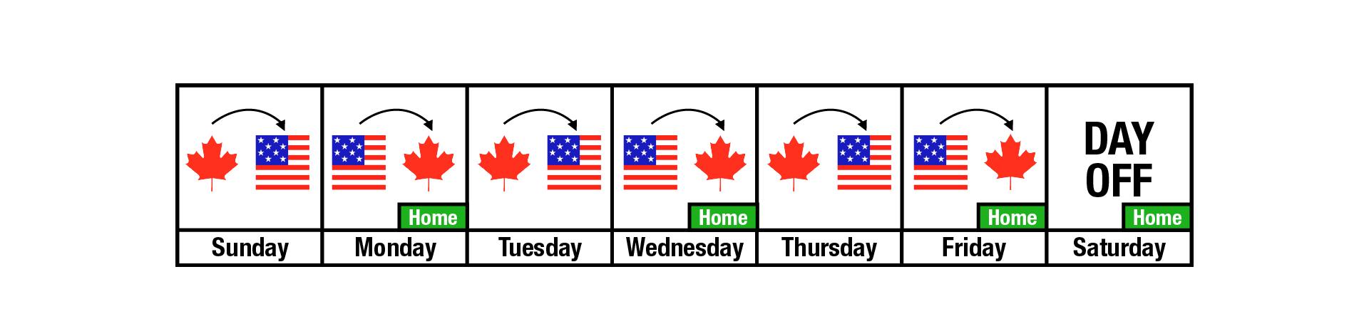 Tiny's Schedule