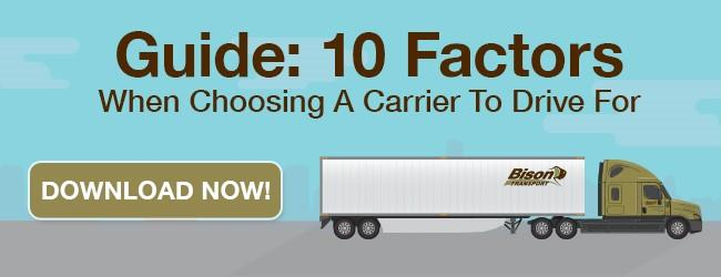 Choosing a Carrier To Drive For